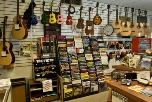 Murphy's Guitars - Back Wall